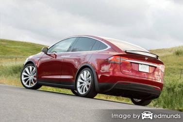 Insurance quote for Tesla Model X in Colorado Springs