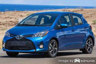 Discount Toyota Yaris insurance